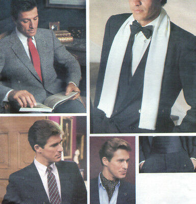 Vtg Vogue 2826 Mens Career Formal Neckties-Ascot-Scarf-Cummerbund Pattern-UCFF