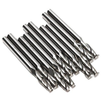 "10x 1/8"" 3.175mm Carbide CNC Double Two Flute Spiral Bits End Mill Router 2 U4U2"