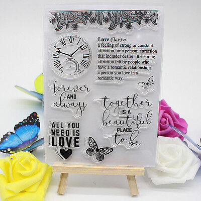 DIY Plastik Letter Love  Embossing Folder Template Karte Scrapbooking Decor$