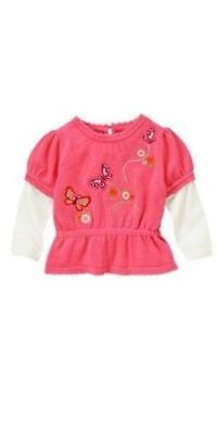 Gymboree Butterfly Girl baby sweater top 12 18 months NWT