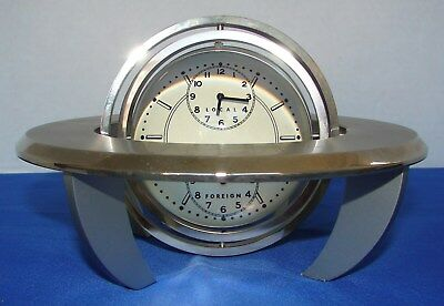 Boeing Super Movement Case Clock With Dual Time & World Outline Map Art Deco