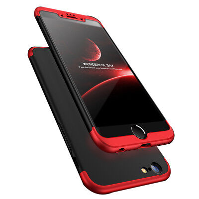 Bakeey 3 in 1 Double Dip 360 Full Protection PC Case for iPhone 6/6s 6Plus/6sPlu