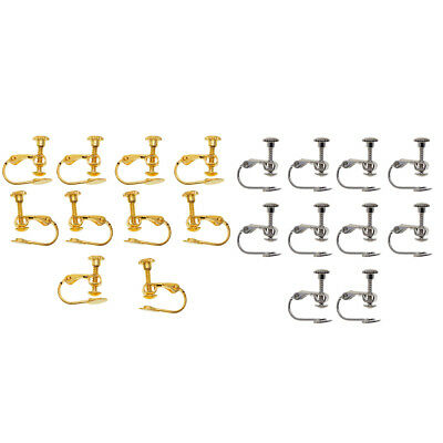 20 PCS Multicolor Adjustable Screw Earring Clips for Jewelry Findings Crafts