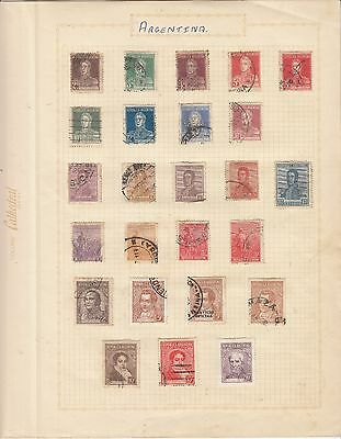 ARGENTINA on Album Page mostly Early Issues USED