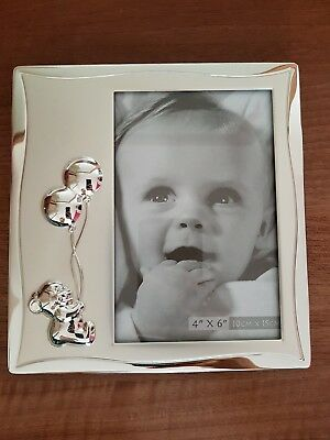 """Silver Impressions by Juliana baby photo frame 4""""x6"""""""