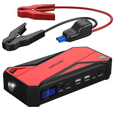 600A 18000mAh Tragbare Auto Starthilfe, Autobatterie Anlasser, LCD Display LED