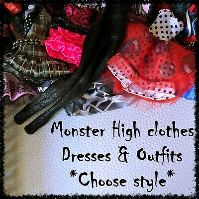 MONSTER HIGH Doll Clothes, Dresses, Outfits (Lot 1) ~SELECT STYLE~ 1 Item incl.