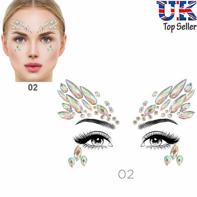 Face Eye Body Festival Sticker Christmas DIY Crystal Glitter Jewels