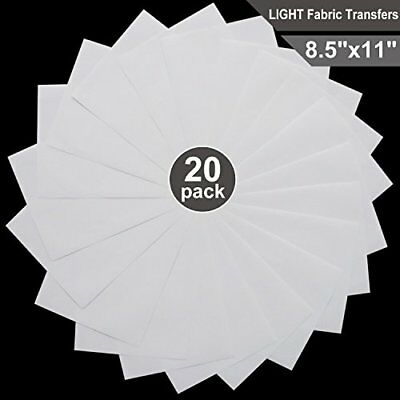 "T-Shirt Transfers for Inkjet Printers for Light-Colored 8.5"" x 11"" 20 Sheets"