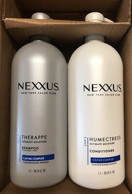 Nexxus Shampoo and Conditioner for Normal Hair Caviar Protein 33.8 oz. 2 Pack