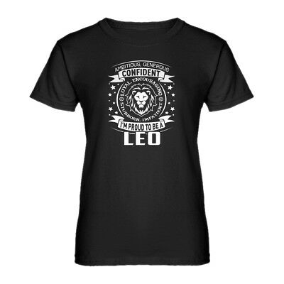 Womens Leo Astrology Zodiac Sign Short Sleeve T-shirt #3585
