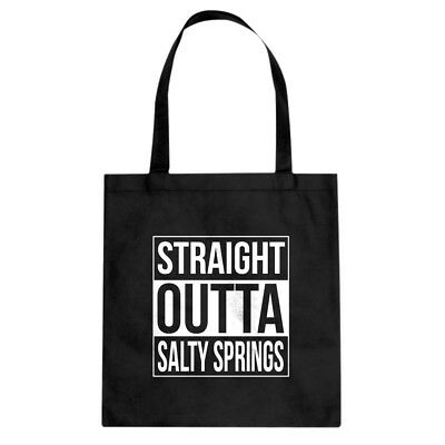 Straight Outta Salty Springs Cotton Canvas Tote Bag #3361