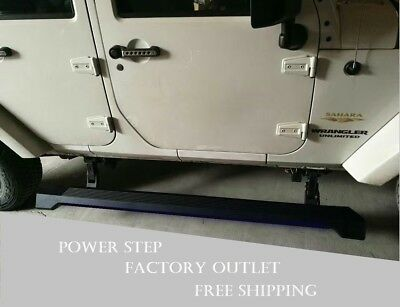 Automatic running board side step fit 07-17 Jeep Wrangler JK 4Dr