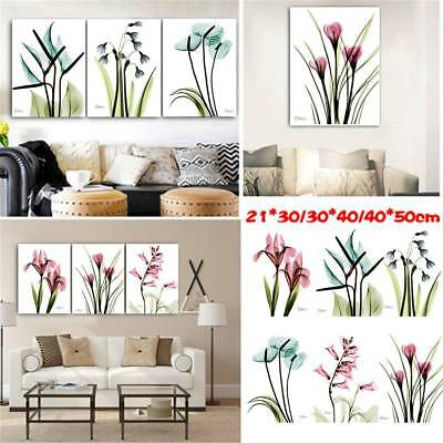 Nordic Plant Flower Canvas Art Print Poster Wall Picture Home Decor Unframed