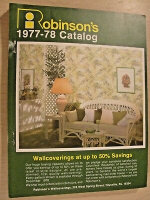 Wallpaper Sample Book Robinson's 1977-78 Catalog Full-Page Samples over 50 pages