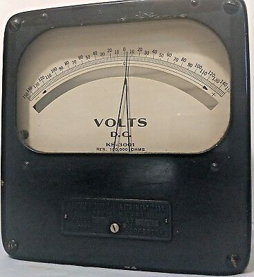 Vintage Weston Electrical DC Voltmeter KS-3001, Model 502