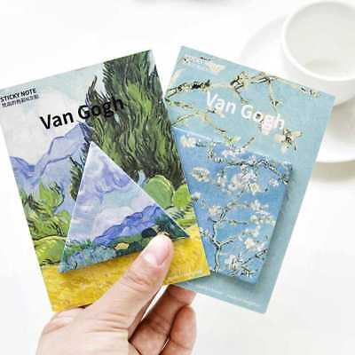 85125mm Van Gogh Removeable message Sticky Notes Memo pad-marker s: