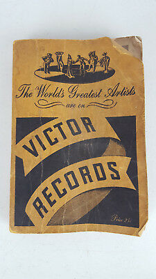 Vintage 1938 Catalog of Victor Records Phonograph Order Book