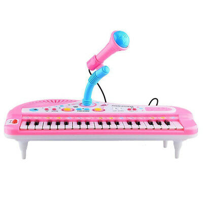 Kids Electronic Keyboard Plastic 35*19*20cm Organ Toy With Microphone Musical