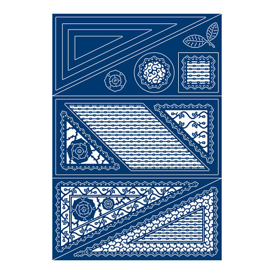 Tattered Lace OFFSET TRIANGLE CARD Craft Cutting Die Set - 436372 - FREE UK P&P