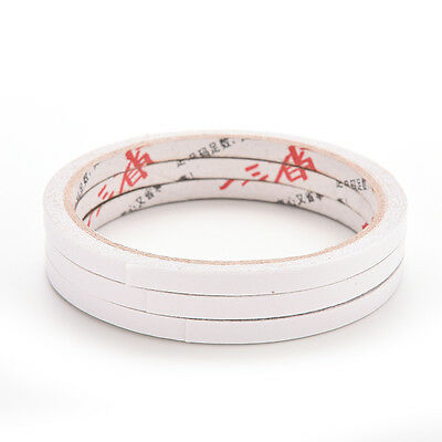 5/10 Rolls of 6mm Double Sided Super Strong Adhesive Tape for DIY Craft Brand LC