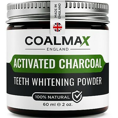Activated Charcoal Teeth Whitening Powder – 100% Natural, Vegan Charcoal Teeth