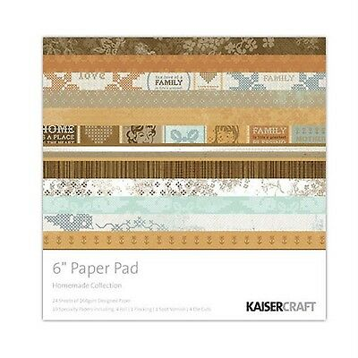 """KAISERCRAFT - HOMEMADE - 6""""x6"""" PAPER PAD (DESIGNER, SPECIALITY PAPERS & DIECUTS)"""