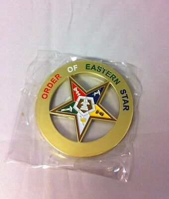 Order of the Eastern Star OES Cut Out Car Emblem-New!