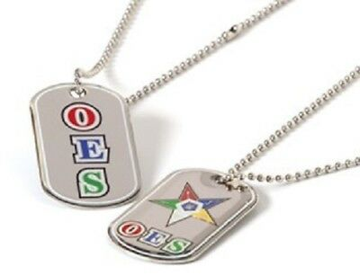 Order of the Eastern Star OES Reversible Dog Tag-New!