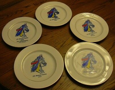 J. D. Massey Horse Show Collector Plates - 5 Years - 1997/1999/2000/2001/2003