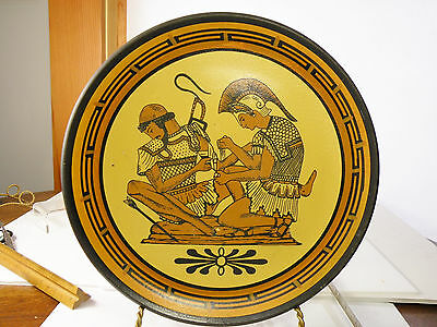 c35 ANCIENT GREEK DESIGN WALL CERAMIC PLATE ACHILLES PATROKLOS