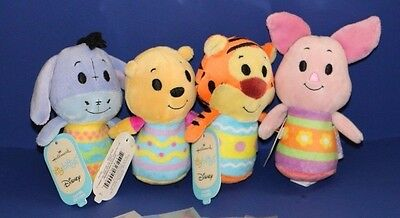 Hallmark Easter Winnie the Pooh set lot of 4 itty bitty bittys plush NWT New