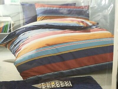 Next - Pack Of 2 Single Bedsets In Bold Colours Of Orange/blues Green Etc - Bnwt