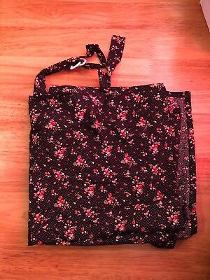 Navy Floral Breast Feeding Cover