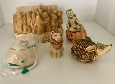 Harmony Kingdom Collectibles Set Of 5 Including Early Retired Pieces