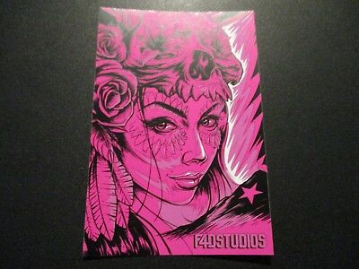 "MAXX242 4X6"" PINK STICKER Art from silkscreen poster print"