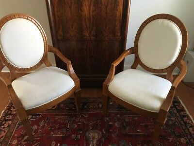Pair of Louis XVI's Classic Chair in Solid Maple,made by HICKORY WHITE, NC