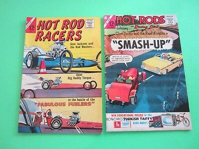 Vintage Comics Hot Rod Racers Jul 1965 & Hot Rods and Racing Cars Sep 1963