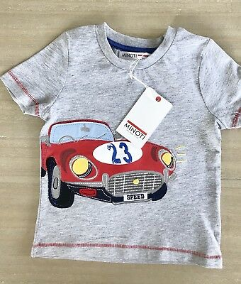 Minoti Baby Boys Summer Cars T-Shirt Grey Marl - Age 12 Months