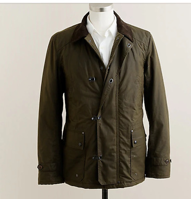 J.crew Sporting Goods 'slim Woodland Jacket' Waxed Cotton Brown Men's M $298