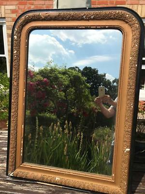 Large Shabby chic French Gilt Neo Classical Chippy Gesso Mirror