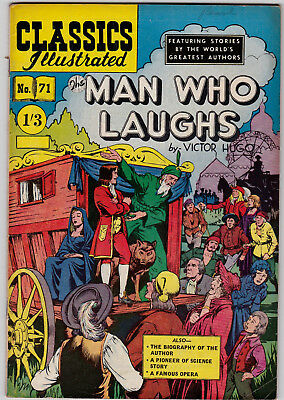 Vintage British Classics Illustrated:The Man Who Laughs/Hugo No. 71  HRN125 1/3
