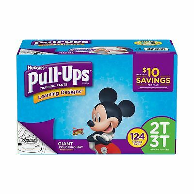 Huggies Pull-ups Training Pants for Boys (Choose Your Size) 2T-5T Free Shipping!