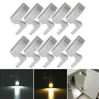 10pcs Kitchen Room Cabinet Hinge Indoor Wardrobe LED Light Sensor System UK