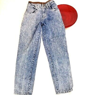 VTG 70s-80s Bacco Womens Mom Jeans 3/4 Acid Wash High Waist Tapered Cowgirl o756