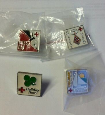 Lot AMERICAN RED CROSS Holiday Heroes! PIN Labor Father's Boss' St. Patricks Day