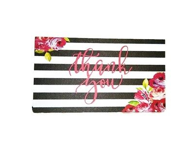 Poshmark Seller THANK YOU Business Cards 5 Five Star Feedback 50 Floral Stripes