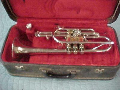 Vintage Olds Studio Cornet with First Slide Trigger, Very Good Condition.