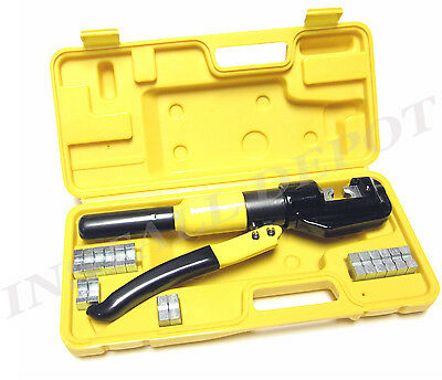 Industrial Grade Hydraulic Crimping Tool Large Battery Cable Lugs 12 To 2/0 Awg