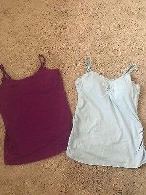 610283102d563 MOTHERHOOD MATERNITY JESSICA Simpson Nursing Tank Tops Size Medium ...
